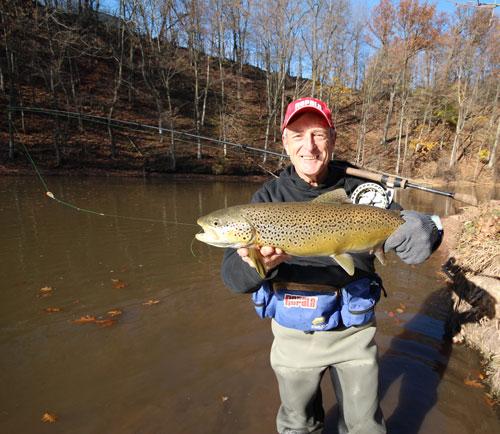 Trophy Brown Trout on Rapala Shift/R-Type Float reel & rod ...