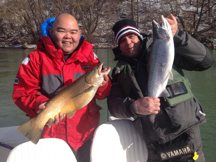Cold weather hot lower niagara river on trout action for Lower niagara river fishing report