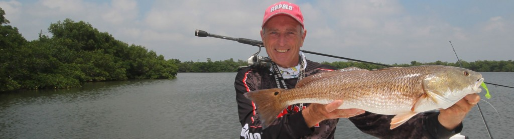 Trophy Bull Bay, FL redfish using Rapala medium-action R-Type spinning outfits!